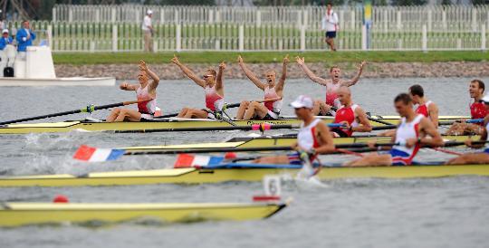 图文-男子轻量级四人单桨决赛赛况 丹麦队轻松夺冠