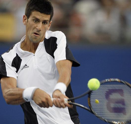 图文-网球男单德约科维奇摘铜 小德稳健回球