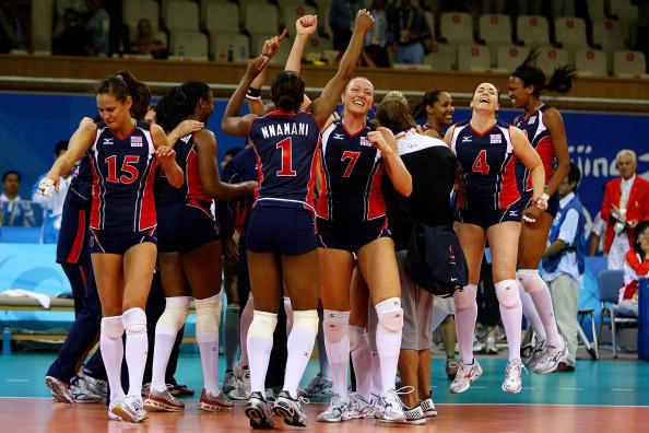 图文-女排半决赛美国3-0古巴 拿下对手分外解气
