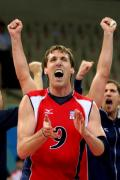 图文-奥运会男子排球1/4决赛赛况 真是太棒了