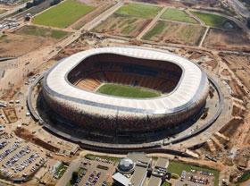 足球城体育场的外观