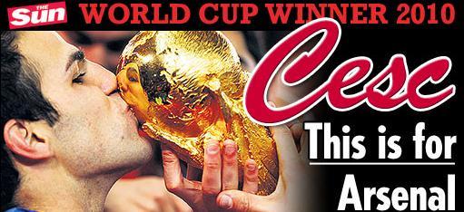 小法:世界杯冠军献给阿森纳没枪手就没我的今天