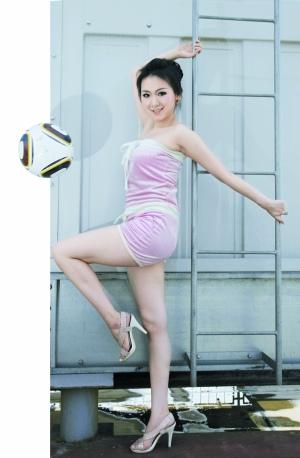 足球宝贝中戏拉丁舞美女:小贝出色不是因为帅图