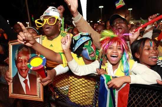 图文-[小组赛]南非VS乌拉圭球迷现场支持