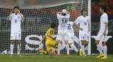 韩国队球门二次失手