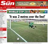 太阳报:球越门线2米