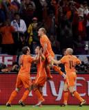 橙衣军团庆祝
