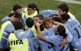乌拉圭队拥抱