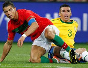 巴西0-0葡萄牙 C罗卢西奥对抗