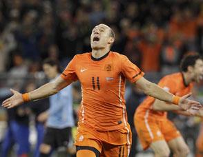 罗本头球!荷兰晋级决赛