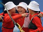 中国射箭女团逆转