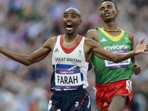 男子5000米法拉赫夺冠
