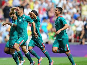 墨西哥男足2比1巴西夺首枚奥运金牌