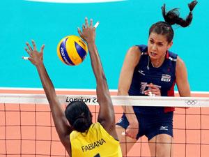 巴西女排3-1逆转美国卫冕