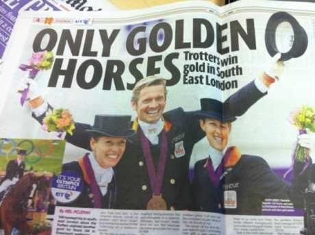 该报纸错把获得铜牌的荷兰队当做英国队