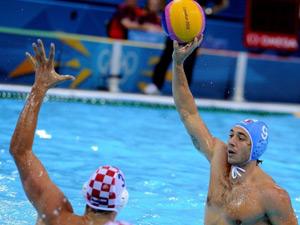 男子水球 克罗地亚8-6胜意大利夺金