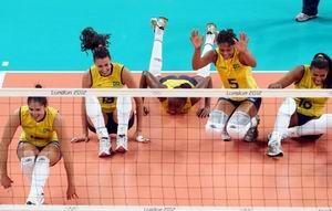 巴西女排3-1逆转卫冕美国饮恨伦敦屈居亚军