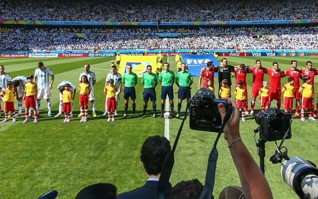阿根廷与伊朗开赛仪式