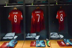 葡萄牙赛前更衣室