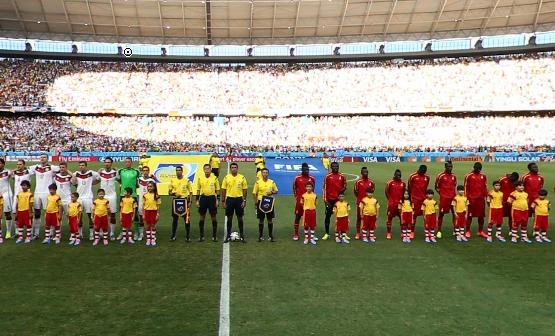 德国与加纳开赛仪式