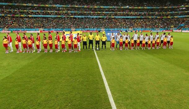 克罗地亚与墨西哥比赛开赛仪式