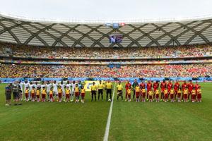 瑞士VS洪都拉斯赛前仪式
