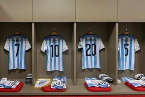 阿根廷队更衣室一览
