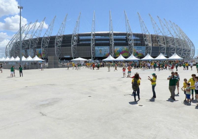 世界杯球场静候比赛开始