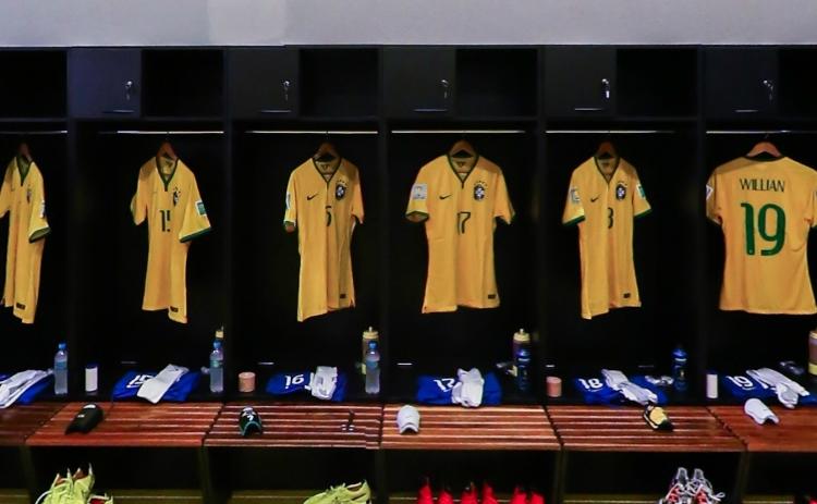 半决赛前巴西更衣室
