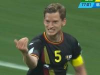 进球视频-门将神勇扑重炮 比利时铁卫补射破僵局