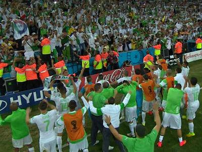 阿尔及利亚欢庆晋级