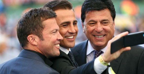 三大世界杯冠军队长:卡纳瓦罗、马特乌斯和帕萨雷拉