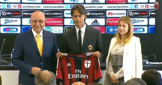 因扎吉正式出任AC米兰主教练