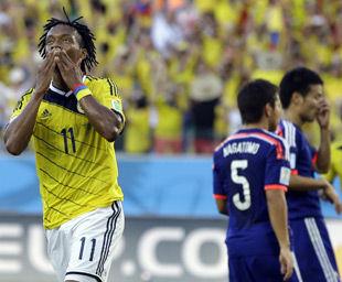 世界杯-日本1-4负垫底出局哥伦比亚头名踢乌拉圭