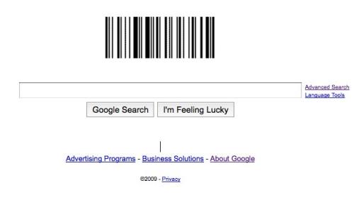 谷歌主页标识变身庆祝条形码57岁生日(图)