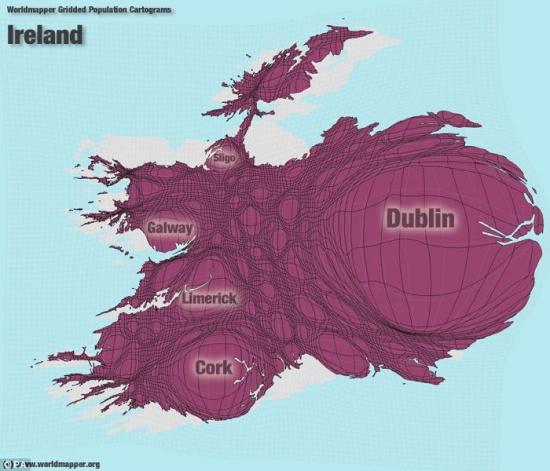 全新的世界地图-爱尔兰