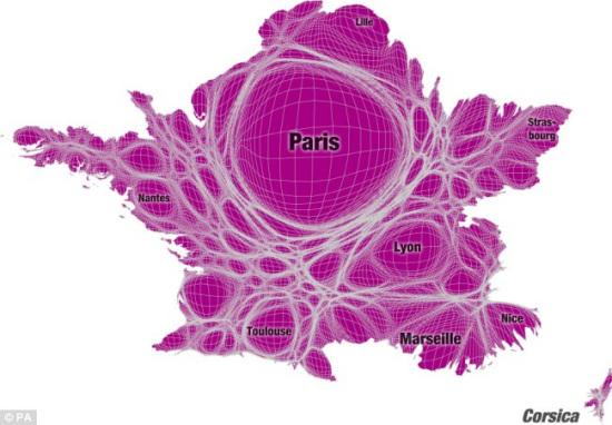 全新的世界地图-法国
