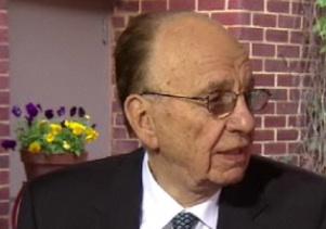 新闻集团CEO鲁珀特・默多克(Rupert Murdoch)在接受旗下福克斯商业台采访