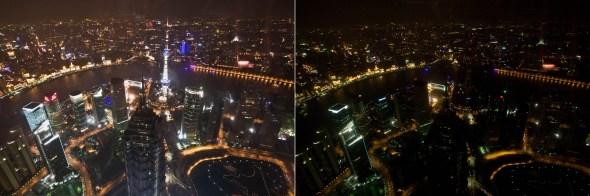 2009上海熄灯一小时全景对比