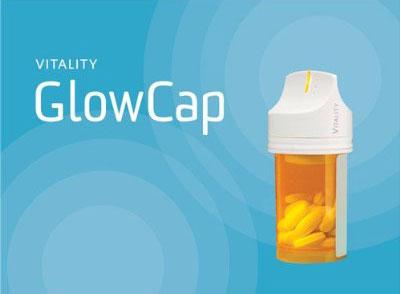 图为:GlowCap智能药瓶