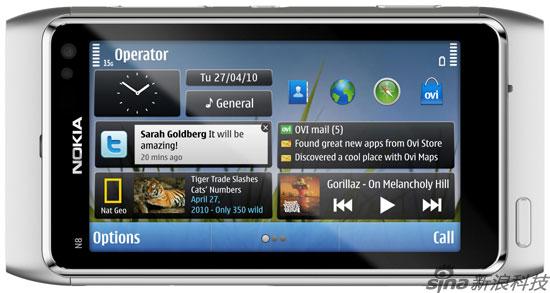 诺基亚发布首款Symbian^3操作系统手机N8