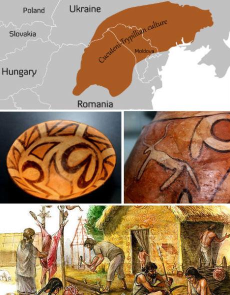 乌克兰和罗马尼亚的Cucuteni-Trypillians