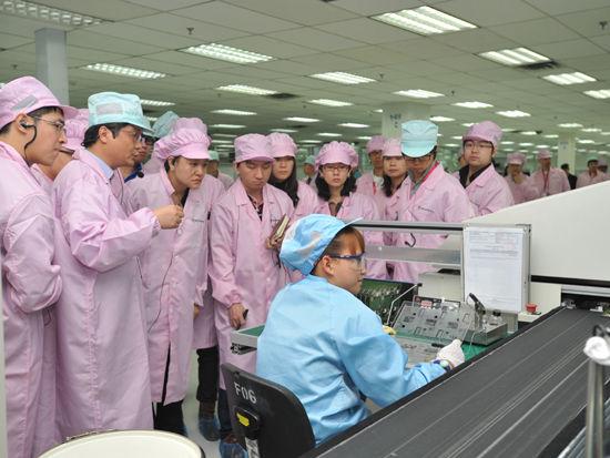 摩托罗拉天津工厂生产线