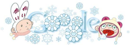 南非、智利和阿根廷等国的用户也将看到由村上隆设计的冬至日谷歌涂鸦