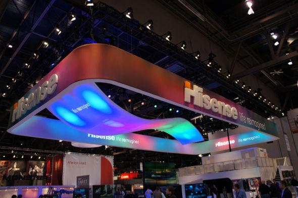 海信在美国CES展首发超短距智能激光电视