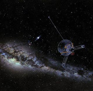 飞往无尽太空的旅行者号探测器。当人类最终灭亡,这些小小的孤独飞船将成为我们曾经存在过的唯一证明