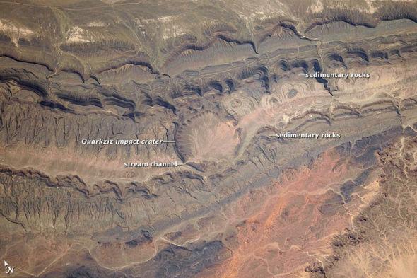 阿尔及利亚Ouarkziz陨石坑