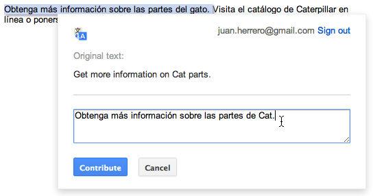 谷歌测试新插件方便用户修正文本翻译内容