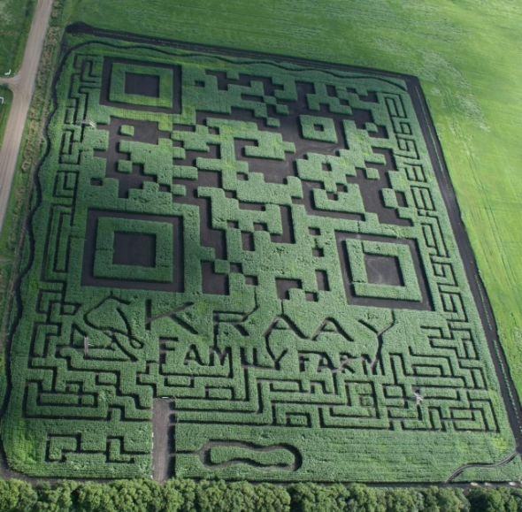 这家农场真的是够有钱、有闲、有创意,可惜对着这张图扫不出来结果。
