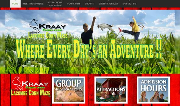 充满了恶搞和各种萌物的Kraay家农场首页